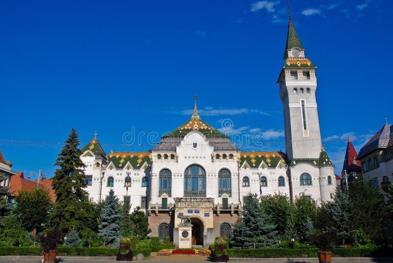 Targu Mures - palácio administrativo foto de stock royalty free