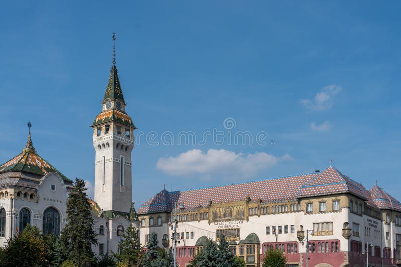 TARGU MURES, TRANSYLVANIA/ROMANIA - 17 SEPTEMBER: Prefectur stock afbeelding