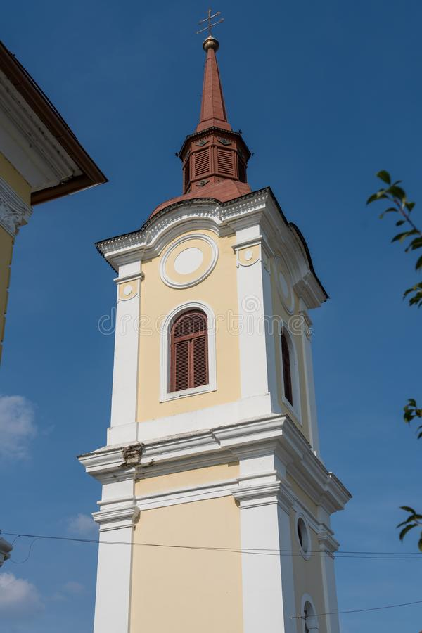 TARGU MURES, TRANSYLVANIA/ROMANIA - 17. SEPTEMBER: Turm von lizenzfreie stockfotografie