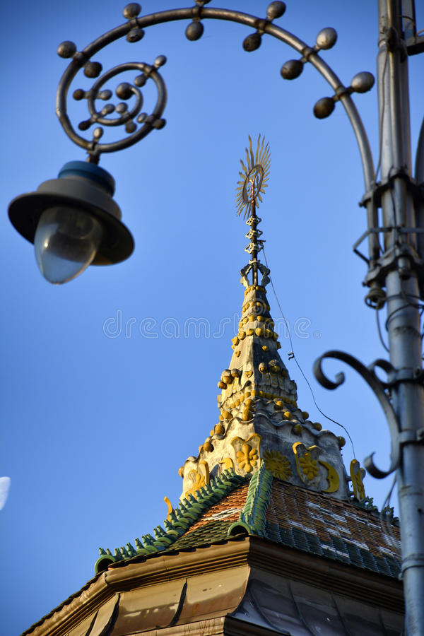 Targu Mures - vieille ville Hall Detail image stock
