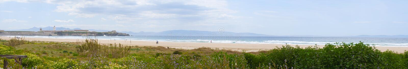 Tarifa, Spain, Andalusia, Iberian Peninsula, Europe. Spain, 23/04/2016: the lighthouse of Punta de Tarifa Point Tarifa, the southernmost point of the Iberian stock photos