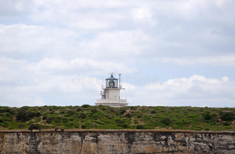 Tarifa, Spain, Andalusia, Iberian Peninsula, Europe, lighthouse. Spain, 23/04/2016: the lighthouse of Punta de Tarifa Point Tarifa, the southernmost point of the stock photos
