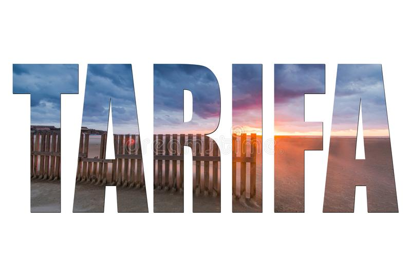 Tarifa,Spain letters isolated with image stock image