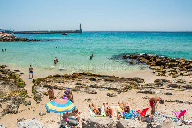 Tarifa strand stock afbeelding