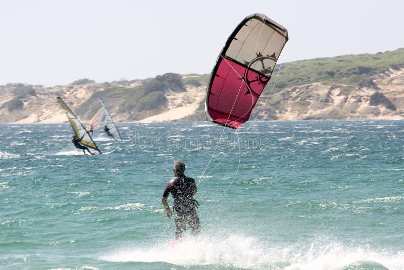 Tarifa - surfmekka lizenzfreie stockbilder