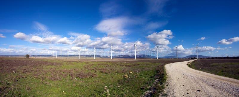 Tarifa wiatrowi młyny fotografia royalty free