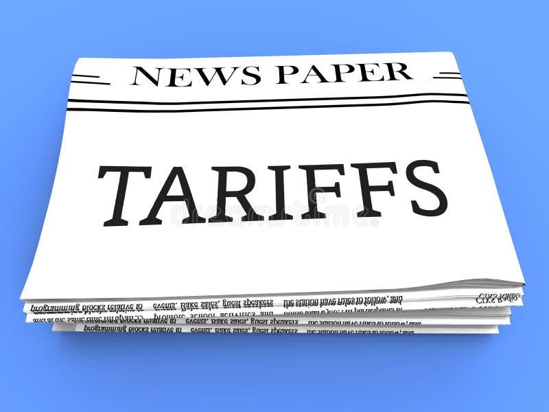 Tarifas do comércio do trunfo em China como o imposto e a pena - ilustração 3d ilustração royalty free