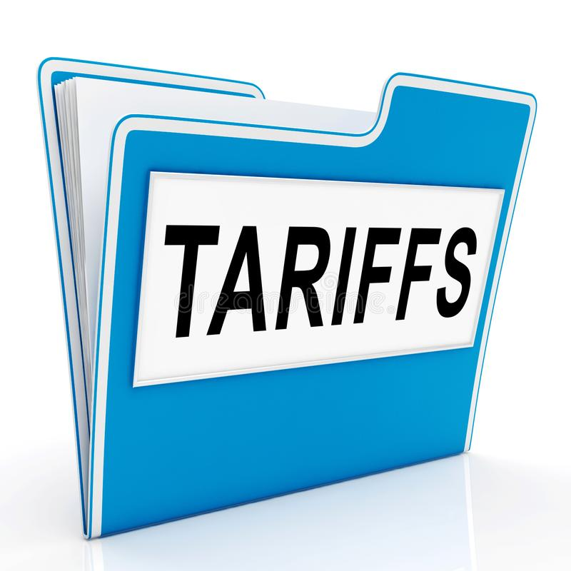 Tarifas do comércio do trunfo em China como o imposto e a pena - ilustração 3d ilustração do vetor