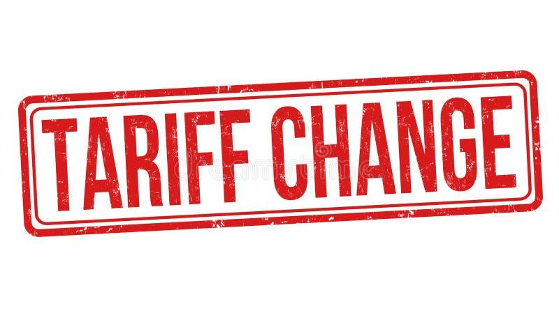 Tariff change sign or stamp. On white background, vector illustration stock illustration