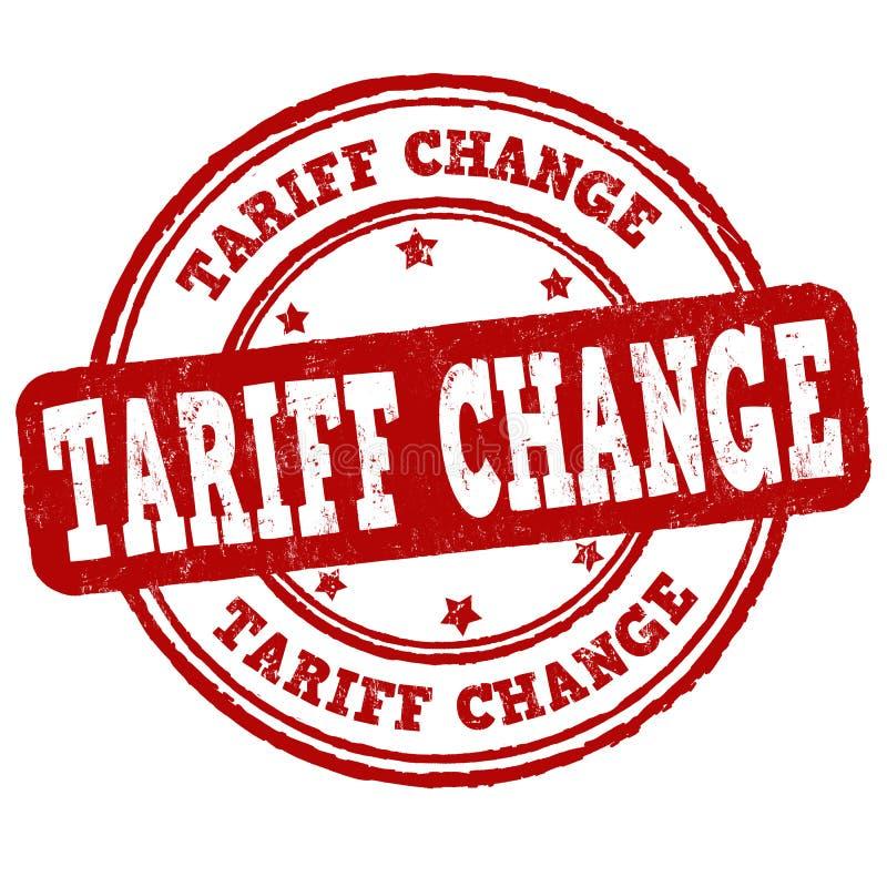 Tariff change sign or stamp. On white background, vector illustration royalty free illustration