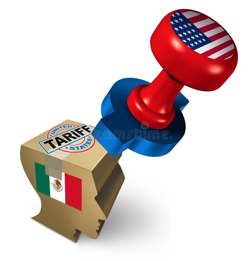 Tariffa di immigrazione del Messico royalty illustrazione gratis