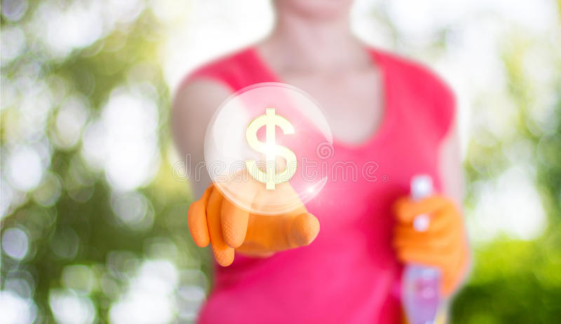 Tariffs for the cleaning in the house. Tariffs for the cleaning in the house banner royalty free stock photos
