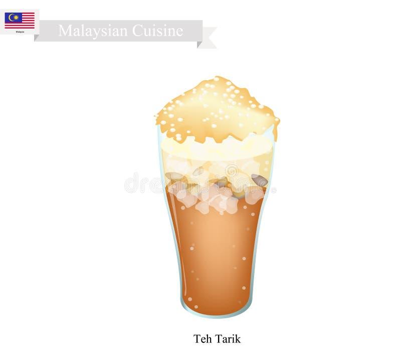 Tarik, Sławny napój w Malezja ilustracji