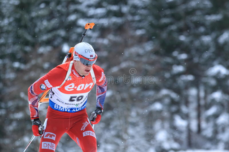 Tarjei Boe - biathlon images stock