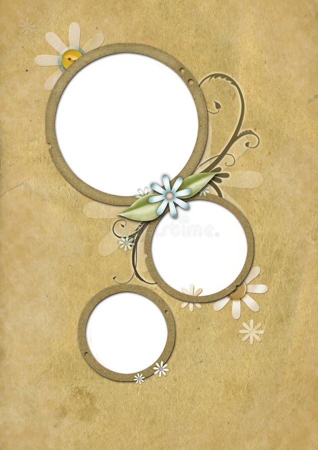 Tarjeta 01 de la vendimia libre illustration