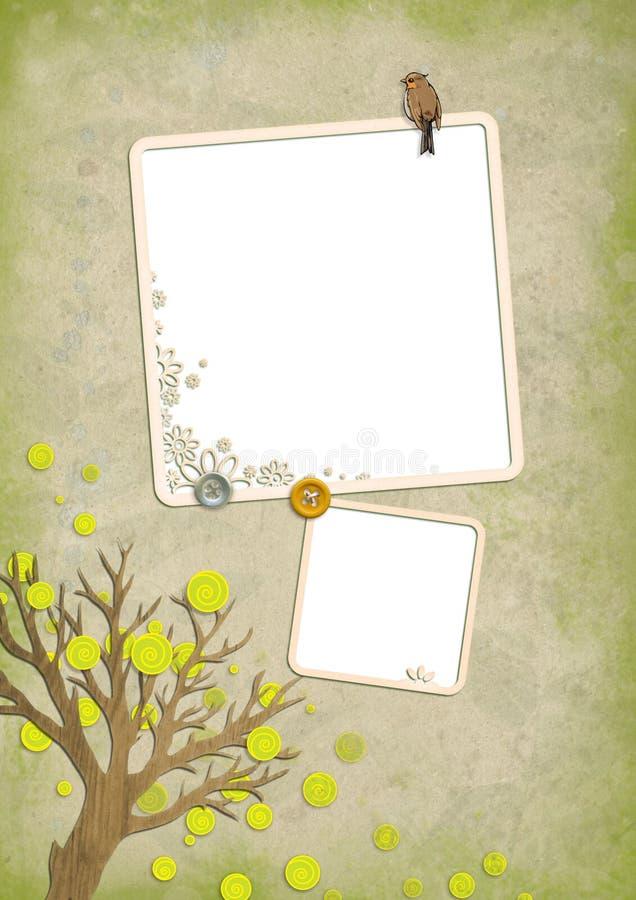 Tarjeta 07 de la vendimia libre illustration