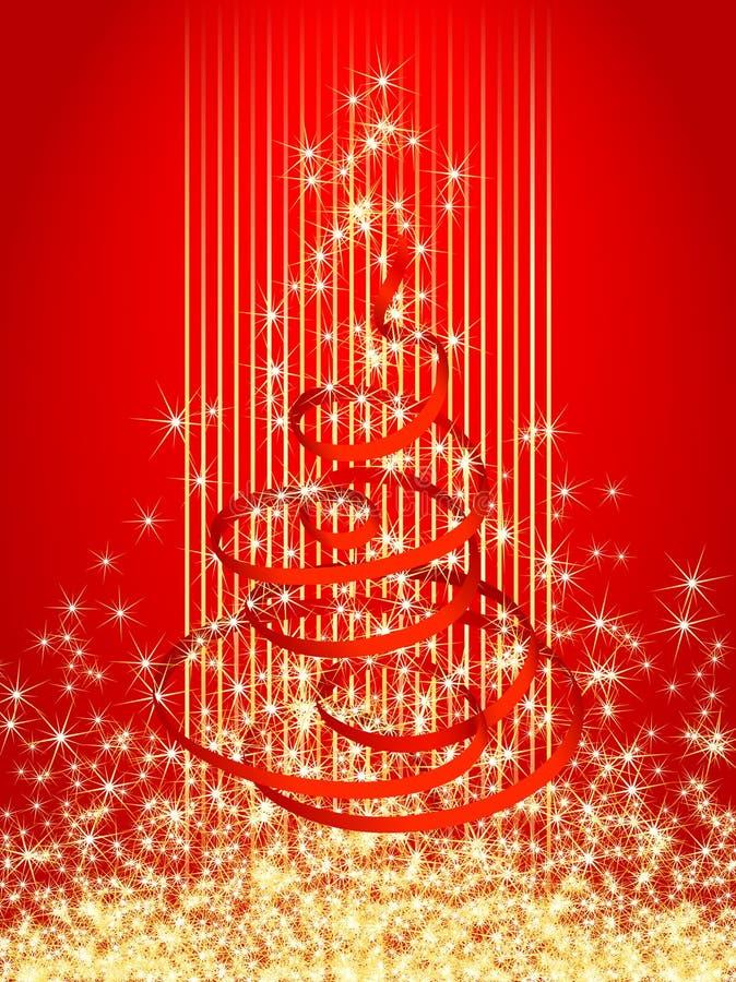 Tarjeta 2 de Navidad stock de ilustración