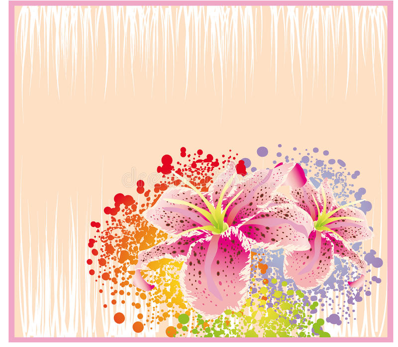 Tarjeta abstracta de la flor ilustración del vector