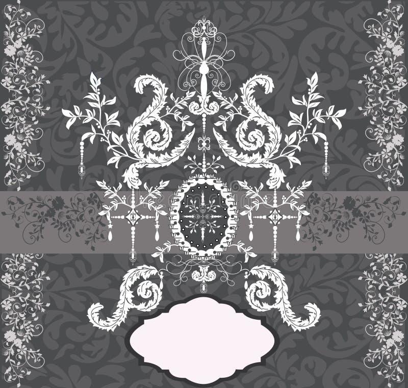 Tarjeta abstracta de la flor con el lugar para el texto stock de ilustración