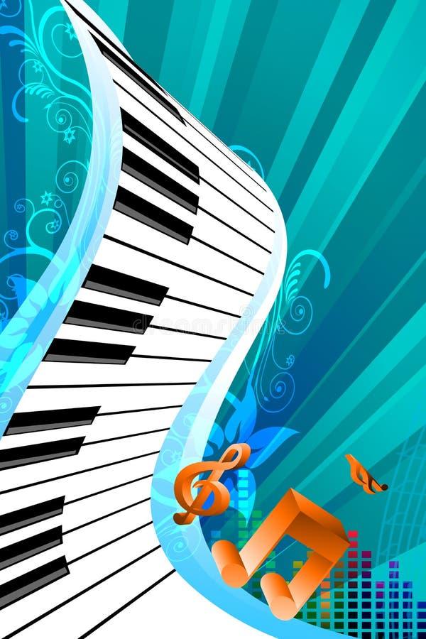 Tarjeta abstracta de la música ilustración del vector