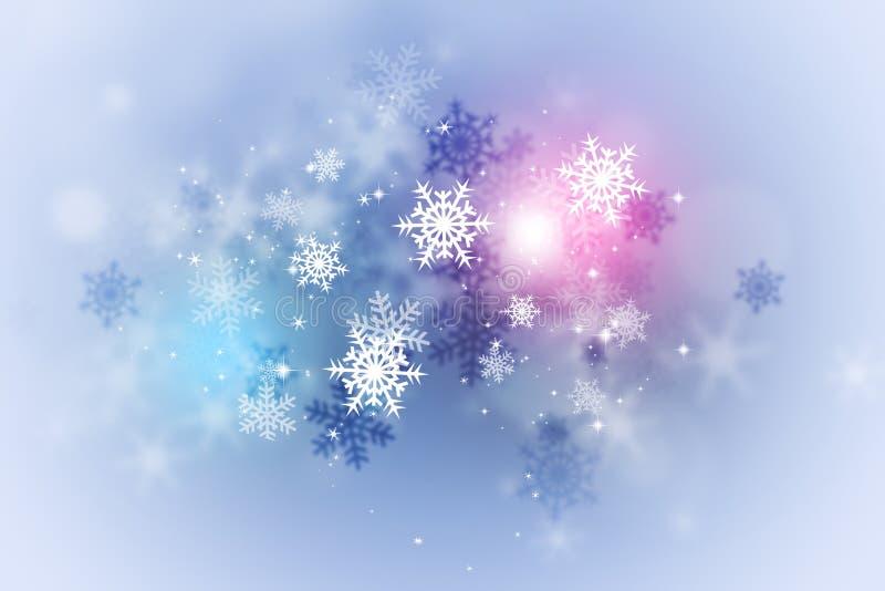 Tarjeta abstracta de la nieve del invierno stock de ilustración