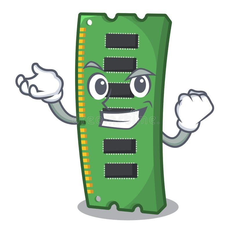 Tarjeta acertada de la memoria ram de la forma de la mascota ilustración del vector