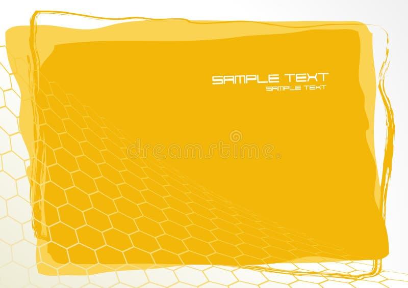 Tarjeta amarilla. Vector stock de ilustración