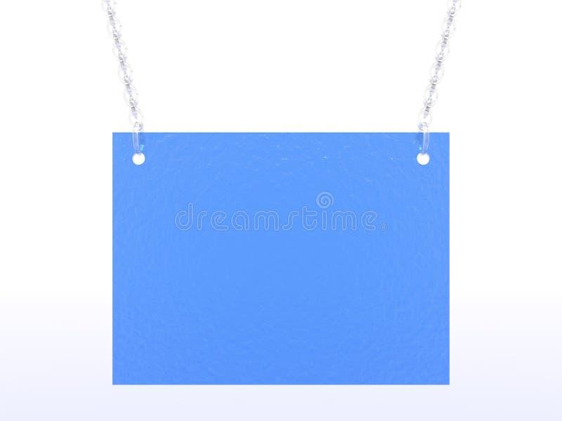 Tarjeta azul stock de ilustración