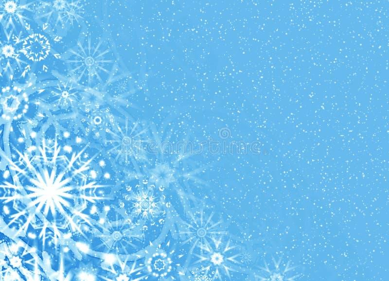 Tarjeta azul suave de la Navidad stock de ilustración