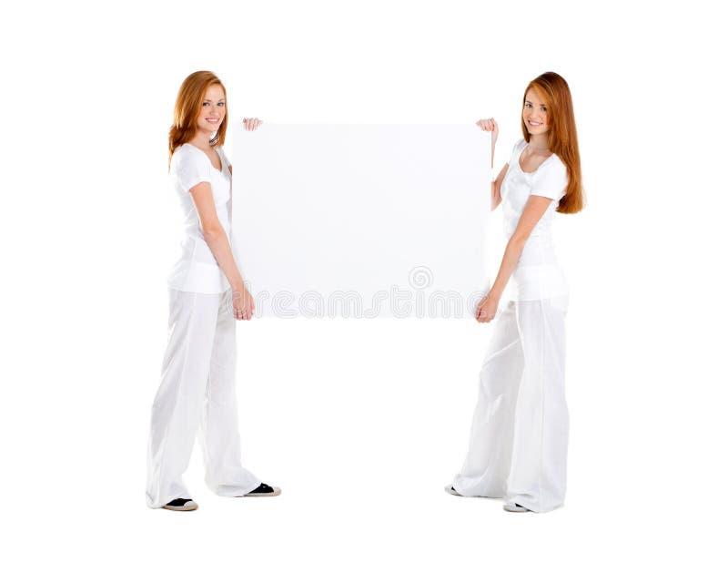 Tarjeta blanca foto de archivo