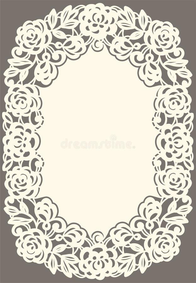 Tarjeta blanca del cordón ilustración del vector
