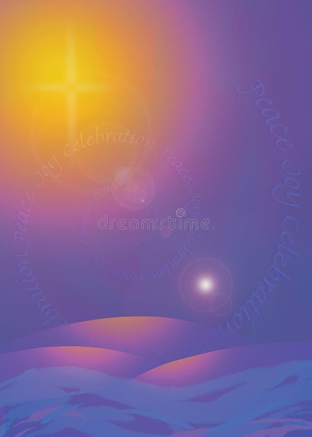 Tarjeta brillante de la estrella ilustración del vector