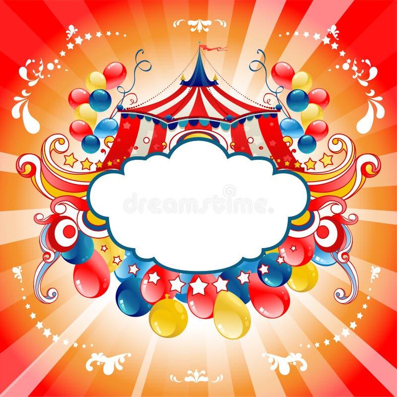Tarjeta brillante del circo stock de ilustración