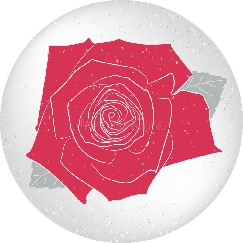 Tarjeta color de rosa redonda del vector stock de ilustración