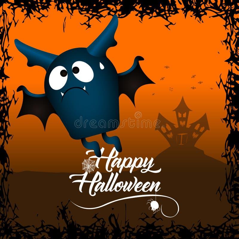 Tarjeta coloreada de Halloween libre illustration