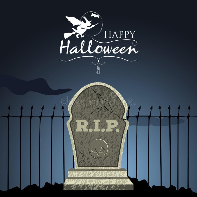 Tarjeta coloreada de Halloween ilustración del vector