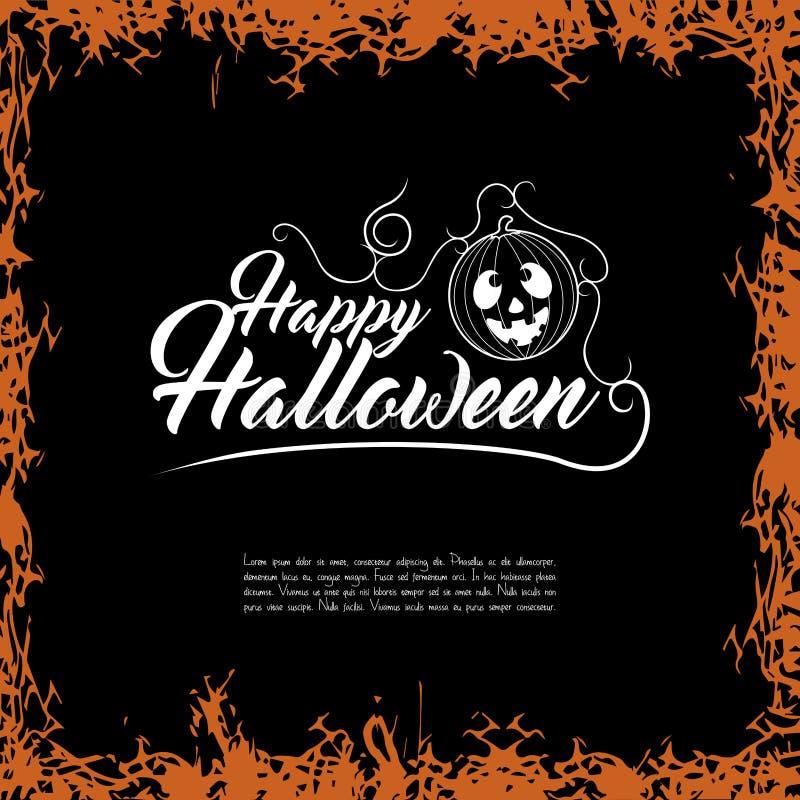Tarjeta coloreada de Halloween stock de ilustración