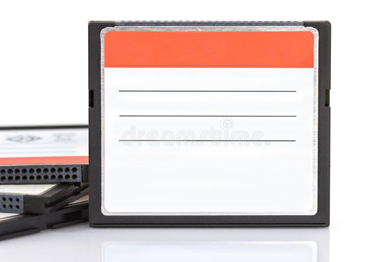 Tarjeta compacta de memoria Flash fotos de archivo libres de regalías