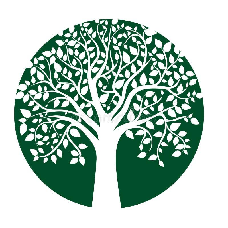Tarjeta con el árbol estilizado libre illustration