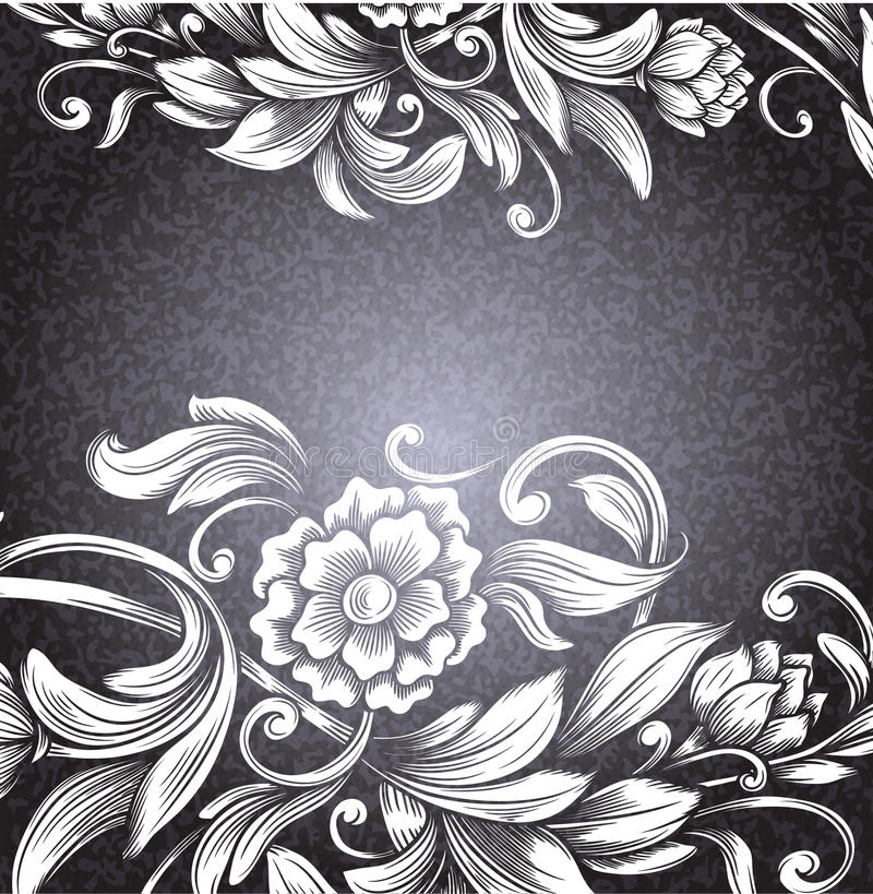 Tarjeta con el estampado de flores libre illustration