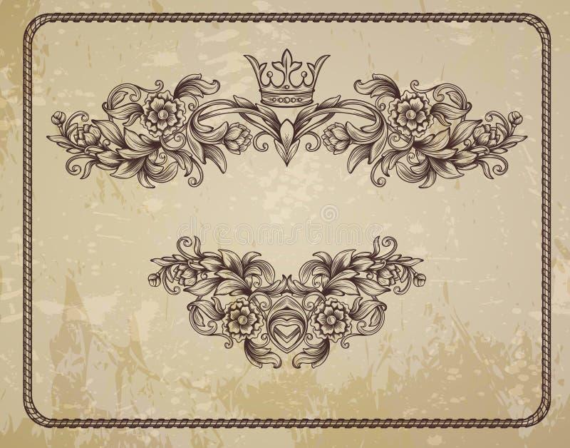 Tarjeta con el estampado de flores ilustración del vector