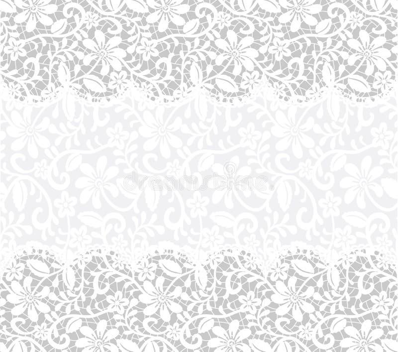 Tarjeta con el fondo de la tela del cordón stock de ilustración
