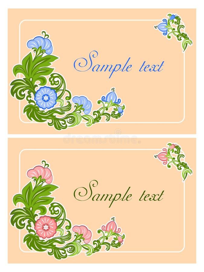 Tarjeta con el ornamento floral ilustración del vector