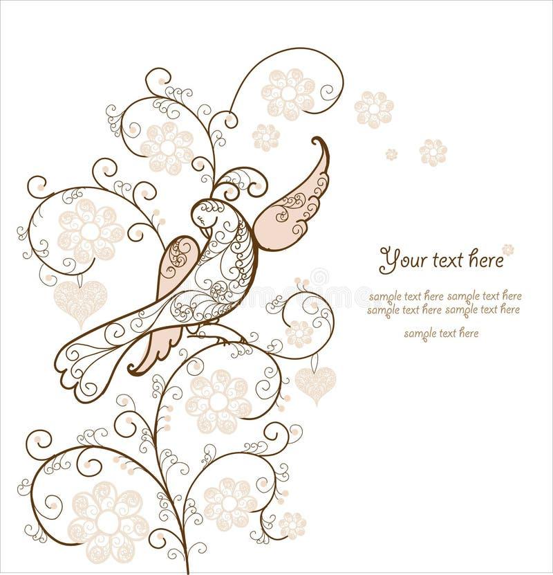 Tarjeta con el pájaro libre illustration