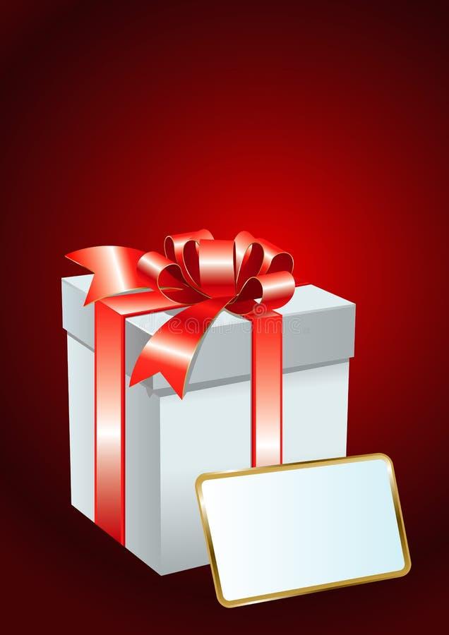 Tarjeta con el rectángulo de regalo stock de ilustración