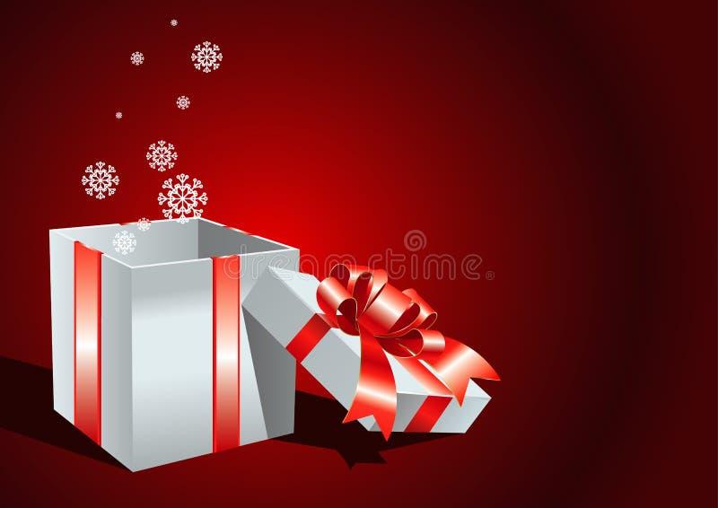 Tarjeta con el rectángulo de regalo abierto libre illustration