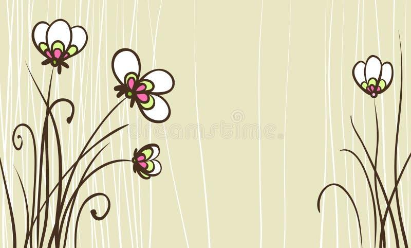 Tarjeta con las flores estilizadas libre illustration
