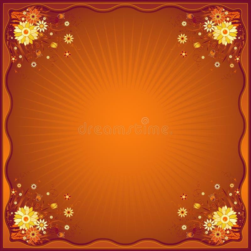 Tarjeta con las margaritas, vector ilustración del vector