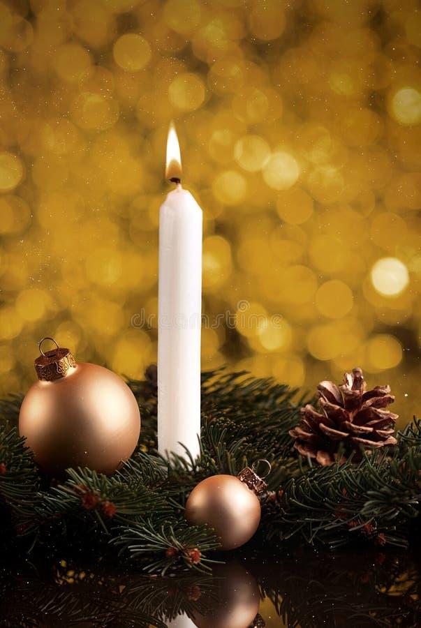 Tarjeta con las ramas de árbol de Navidad, b de la decoración de la Navidad o del Año Nuevo fotos de archivo libres de regalías