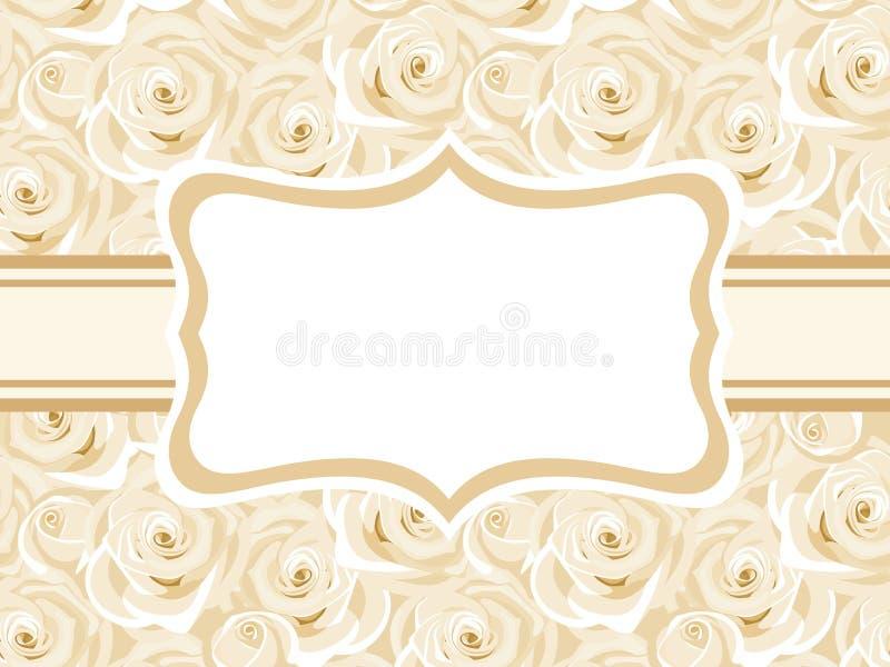Tarjeta con las rosas blancas. libre illustration